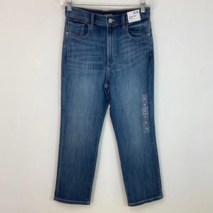 Express Cropped Straight High Rise Jeans